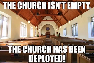 church has been deployed smaller
